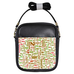 Screen Source Serif Text Girls Sling Bags by Mariart