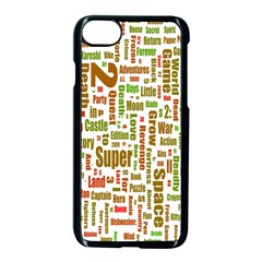 Screen Source Serif Text Apple Iphone 7 Seamless Case (black) by Mariart