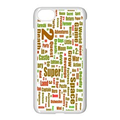 Screen Source Serif Text Apple Iphone 7 Seamless Case (white) by Mariart