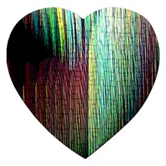 Screen Shot Line Vertical Rainbow Jigsaw Puzzle (heart) by Mariart