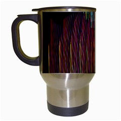 Screen Shot Line Vertical Rainbow Travel Mugs (white) by Mariart