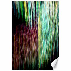 Screen Shot Line Vertical Rainbow Canvas 12  X 18   by Mariart