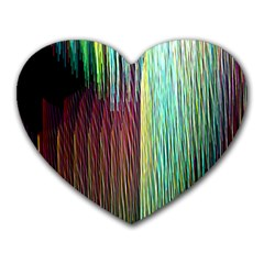 Screen Shot Line Vertical Rainbow Heart Mousepads by Mariart