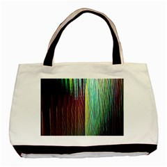 Screen Shot Line Vertical Rainbow Basic Tote Bag (two Sides) by Mariart