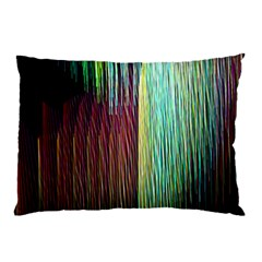 Screen Shot Line Vertical Rainbow Pillow Case by Mariart