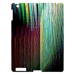 Screen Shot Line Vertical Rainbow Apple Ipad 3/4 Hardshell Case by Mariart