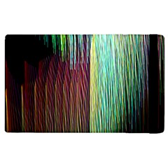 Screen Shot Line Vertical Rainbow Apple Ipad 3/4 Flip Case by Mariart