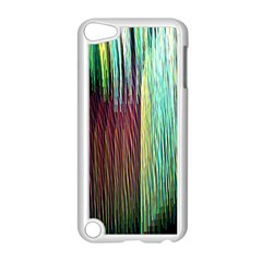 Screen Shot Line Vertical Rainbow Apple Ipod Touch 5 Case (white) by Mariart