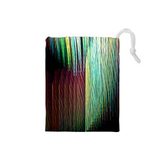 Screen Shot Line Vertical Rainbow Drawstring Pouches (small)  by Mariart