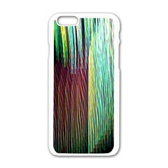 Screen Shot Line Vertical Rainbow Apple Iphone 6/6s White Enamel Case by Mariart