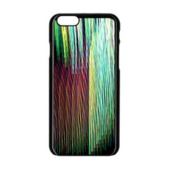 Screen Shot Line Vertical Rainbow Apple Iphone 6/6s Black Enamel Case by Mariart