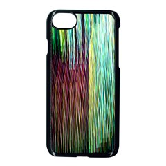 Screen Shot Line Vertical Rainbow Apple Iphone 7 Seamless Case (black) by Mariart