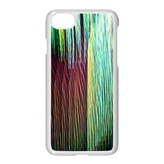 Screen Shot Line Vertical Rainbow Apple Iphone 7 Seamless Case (white) by Mariart