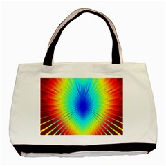 View Max Gain Resize Flower Floral Light Line Chevron Basic Tote Bag (two Sides) by Mariart