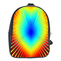 View Max Gain Resize Flower Floral Light Line Chevron School Bags(large)