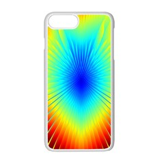 View Max Gain Resize Flower Floral Light Line Chevron Apple Iphone 7 Plus White Seamless Case