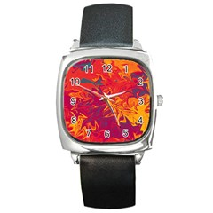 Colors Square Metal Watch by Valentinaart