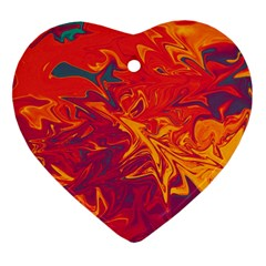 Colors Heart Ornament (two Sides)