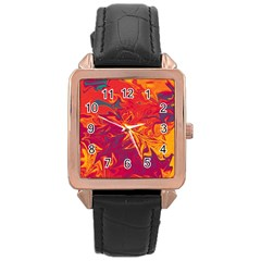 Colors Rose Gold Leather Watch  by Valentinaart