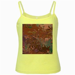 Colors Yellow Spaghetti Tank by Valentinaart