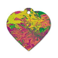 Colors Dog Tag Heart (one Side)