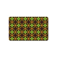 Kiwi Like Pattern Magnet (name Card) by linceazul