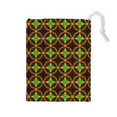 Kiwi Like Pattern Drawstring Pouches (large)  by linceazul