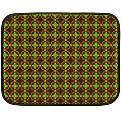 Kiwi Like Pattern Fleece Blanket (mini) by linceazul