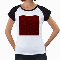 Red Roses Field Women s Cap Sleeve T