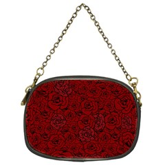 Red Roses Field Chain Purses (one Side)  by designworld65