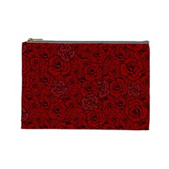 Red Roses Field Cosmetic Bag (large)  by designworld65