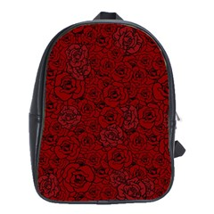 Red Roses Field School Bags(large)  by designworld65