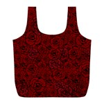 Red Roses Field Full Print Recycle Bags (L)  Front