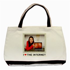 I Love The Internet Basic Tote Bag by RakeClag