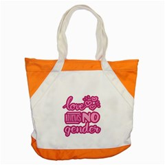 Love Knows No Gender Accent Tote Bag by Valentinaart