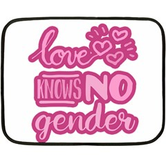 Love Knows No Gender Double Sided Fleece Blanket (mini)  by Valentinaart
