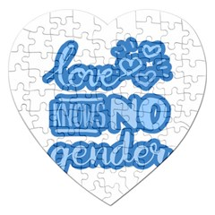 Love Knows No Gender Jigsaw Puzzle (heart) by Valentinaart