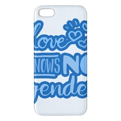 Love Knows No Gender Apple Iphone 5 Premium Hardshell Case