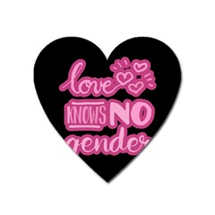 Love Knows No Gender Heart Magnet by Valentinaart