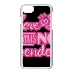 Love Knows No Gender Apple Iphone 7 Seamless Case (white) by Valentinaart