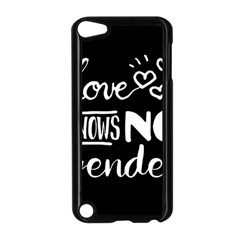 Love Knows No Gender Apple Ipod Touch 5 Case (black) by Valentinaart