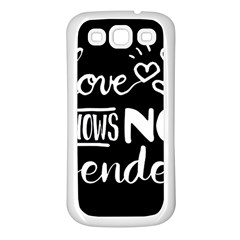 Love Knows No Gender Samsung Galaxy S3 Back Case (white)