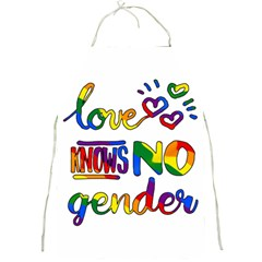 Love Knows No Gender Full Print Aprons by Valentinaart