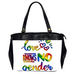 Love Knows No Gender Office Handbags (2 Sides)  by Valentinaart