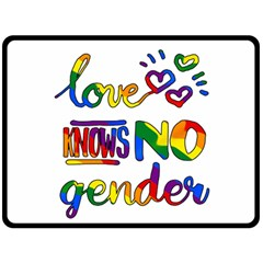 Love Knows No Gender Fleece Blanket (large)  by Valentinaart