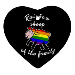 Rainbow Sheep Ornament (heart) by Valentinaart