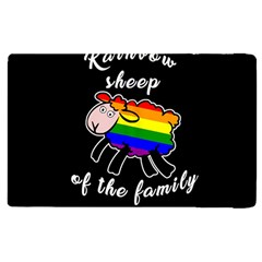 Rainbow Sheep Apple Ipad 2 Flip Case by Valentinaart