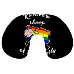 Rainbow Sheep Travel Neck Pillows by Valentinaart