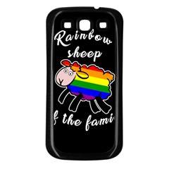 Rainbow Sheep Samsung Galaxy S3 Back Case (black)