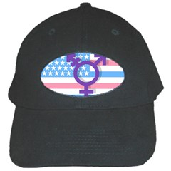 Transgender Flag Black Cap by Valentinaart